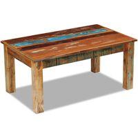 vidaXL tömör újrahasznosított fa dohányzóasztal 100 x 60 x 45 cm
