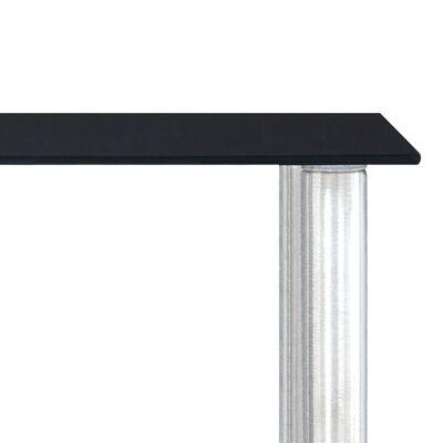 vidaXL fekete edzett üveg konyhai polc 45 x 16 x 26 cm