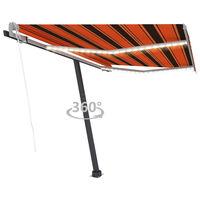 vidaXL narancssárga-barna szélérzékelős és LED-es napellenző 300x250cm