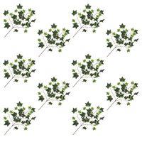 vidaXL 10 darab zöld és fehér mű borostyánlevél 70 cm
