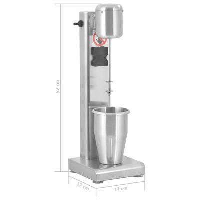 vidaXL rozsdamentes acél tejturmixgép 1 L