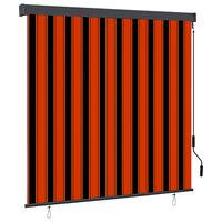 vidaXL narancssárga és barna kültéri roló 160 x 250 cm