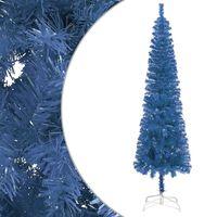 vidaXL kék vékony karácsonyfa 210 cm
