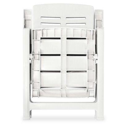 vidaXL 5-részes fehér műanyag kültéri étkezőgarnitúra