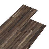 vidaXL csíkos barna 2 mm-es öntapadó PVC padlóburkolat 5,02 m²