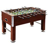 vidaXL barna acél csocsóasztal 140 x 74,5 x 87,5 cm