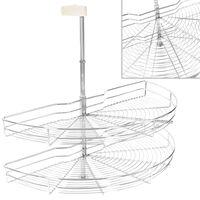 vidaXL kétszintes 180 fokban elforgatható konyhai drótkosár 85x44x80cm
