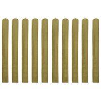 vidaXL 10 db impregnált fa kerítésléc 100 cm