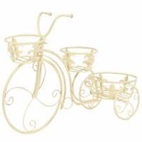vidaXL vintage stílusú bicikli-formájú fém virágtartó állvány