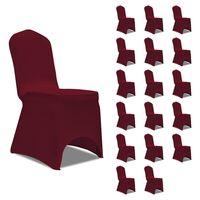 vidaXL 18 db burgundi vörös sztreccs székszoknya