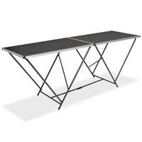 vidaXL összecsukható MDF/alumínium tapétázóasztal 200 x 60 x 78 cm