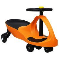 vidaXL narancssárga ráülős játék forgóautó kürttel