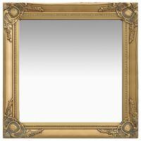 vidaXL aranyszínű barokk stílusú fali tükör 60 x 60 cm