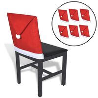 6 db mikulás sapka székhuzat