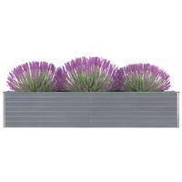 vidaXL szürke horganyzott acél kerti magaságyás 320 x 40 x 45 cm