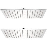 vidaXL 2 db rozsdamentes acél esőztető zuhanyfej 30 x 40 cm
