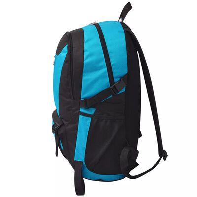 vidaXL 40 literes túra hátizsák fekete és kék