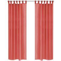 vidaXL 2 db piros voile függöny 140 x 225 cm
