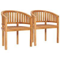vidaXL 2 db tömör tíkfa banán alakú szék