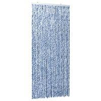 vidaXL kék, fehér és ezüstszínű zsenília rovarfüggöny 100 x 220 cm