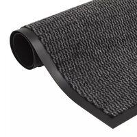vidaXL négyszögletes szennyfogó szőnyeg 90 x 150 cm antracitszürke