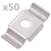 vidaXL 50 db rozsdamentes acél kerítésrögzítő pillangókapocs