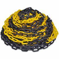 30 m műanyag jelző lánc fekete és sárga