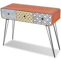 vidaXL 3 fiókos barna tálalóasztal