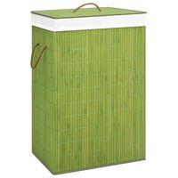vidaXL zöld bambusz szennyestartó kosár 72 L