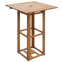 vidaXL tömör akácfa bisztró asztal 75 x 75 x 110 cm