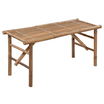 vidaXL összecsukható bambusz kerti pad párnával 118 cm