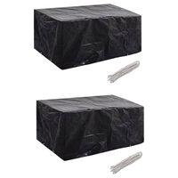 vidaXL 2 db védőhuzat 4 személyes polyrattan szetthez 180 x 140 cm