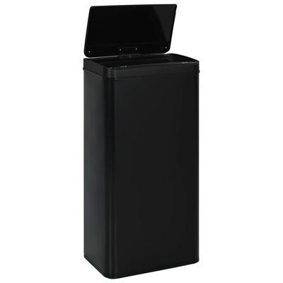 vidaXL fekete automata érzékelős acél szemeteskuka 80 l