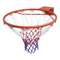 vidaXL narancssárga kosárlabda készlet gyűrűvel és hálóval 45 cm