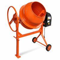 Betonkeverő Cement Mixer Narancssárga Acél 140 L 650 W