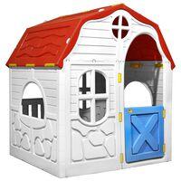 vidaXL összecsukható gyerekjátszóház működő ajtóval és ablakokkal