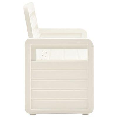 vidaXL fehér műanyag kerti tárolópad 132,5 cm