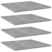 vidaXL 4 db betonszürke forgácslap könyvespolc 40 x 40 x 1,5 cm