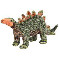 vidaXL álló, zöld és narancssárga plüss stegosaurus XXL