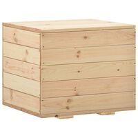 vidaXL tömör fenyőfa tárolóláda 60 x 54 x 50,7 cm