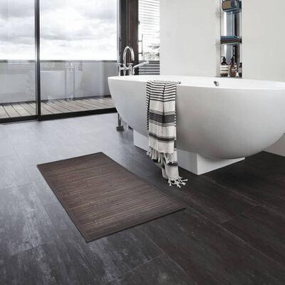 vidaXL 8 db sötétbarna bambusz fürdőszobaszőnyeg 40 x 50 cm