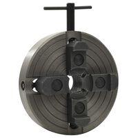 vidaXL fekete acél 4 pofás fatokmány M33 csatlakozóval 150 x 63 mm