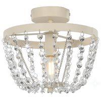 vidaXL fehér kerek mennyezeti lámpa kristálygyöngyökkel E14