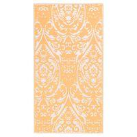 vidaXL narancssárga-fehér PP kültéri szőnyeg 120 x 180 cm