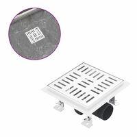 vidaXL rozsdamentes acél zuhanylefolyó ellenőrzőszeleppel 15 x 15 cm