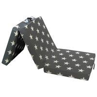 vidaXL háromrét összehajtható szürke matrac 190 x 70 x 9 cm