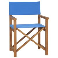 vidaXL kék tömör tíkfa rendezői szék