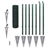vidaXL Euro Fence zöld acélkerítés 10 x 1 m