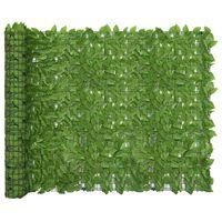vidaXL zöld leveles erkélyparaván 300 x 150 cm