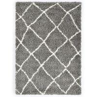 vidaXL szürke-bézs bozontos PP berber szőnyeg 160 x 230 cm